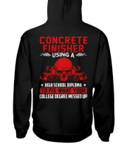Concrete Finisher Using A High School Diplome Hooded Sweatshirt thumbnail