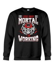 Look Away Mortal I'm Working Crewneck Sweatshirt thumbnail