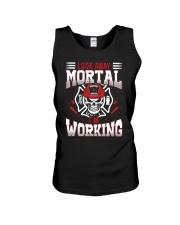 Look Away Mortal I'm Working Unisex Tank thumbnail