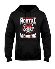 Look Away Mortal I'm Working Hooded Sweatshirt thumbnail