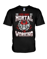 Look Away Mortal I'm Working V-Neck T-Shirt thumbnail