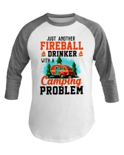 Just Another Fireball Drinker With A Camping Baseball Tee thumbnail