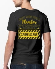 Don't Mess With A Plumber  Classic T-Shirt lifestyle-mens-crewneck-back-5