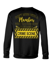 Don't Mess With A Plumber  Crewneck Sweatshirt thumbnail