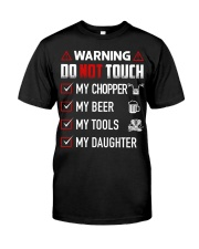 Warning Do Not Touch - My Biker Premium Fit Mens Tee thumbnail