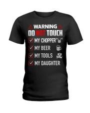 Warning Do Not Touch - My Biker Ladies T-Shirt thumbnail