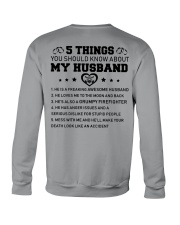 5 thing You Should Know About My Husband Firefight Crewneck Sweatshirt thumbnail