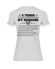 5 thing You Should Know About My Husband Firefight Premium Fit Ladies Tee thumbnail