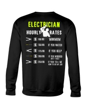Electrician Hourly Rate Crewneck Sweatshirt thumbnail
