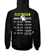 Electrician Hourly Rate Hooded Sweatshirt thumbnail
