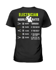 Electrician Hourly Rate Ladies T-Shirt thumbnail