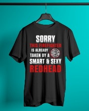 Sorry This Firefighter Is Already Taken By A Smart Classic T-Shirt lifestyle-mens-crewneck-front-3