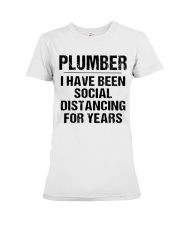 Plumber Social Distancing Premium Fit Ladies Tee tile
