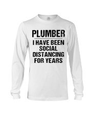 Plumber Social Distancing Long Sleeve Tee thumbnail