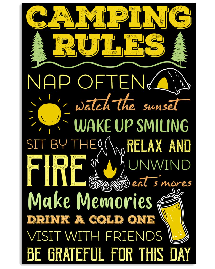 Camping Rules  11x17 Poster