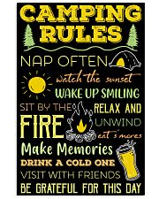 Camping Rules  11x17 Poster front