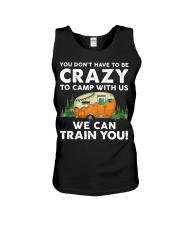 You Dont't Have To Be Crazy To Camp With Us Unisex Tank thumbnail