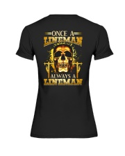 One A Lineman Always A Lineman Premium Fit Ladies Tee thumbnail