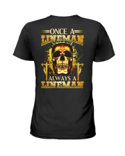 One A Lineman Always A Lineman Ladies T-Shirt thumbnail