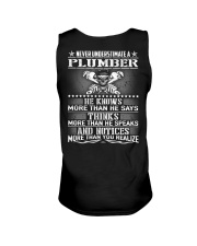 Never Understimate A Plumber Unisex Tank thumbnail