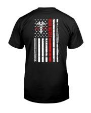War Nurse Flag Classic T-Shirt back