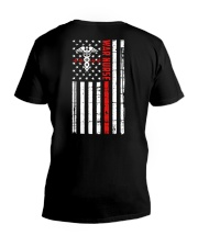 War Nurse Flag V-Neck T-Shirt thumbnail