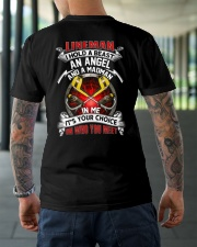 Lineman I Hold A Beast An Angel And A Madman Classic T-Shirt lifestyle-mens-crewneck-back-3