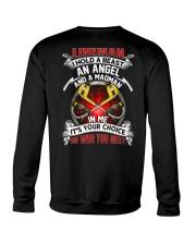 Lineman I Hold A Beast An Angel And A Madman Crewneck Sweatshirt thumbnail