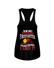 I'm Not Crazy Because I'm A Firefighter Ladies Flowy Tank thumbnail