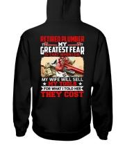 Retired Plumber My greatest fear Hooded Sweatshirt thumbnail