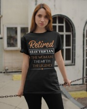 Retired Electrician The Woman Myth Legend Classic T-Shirt apparel-classic-tshirt-lifestyle-19