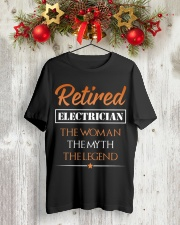 Retired Electrician The Woman Myth Legend Classic T-Shirt lifestyle-holiday-crewneck-front-2