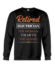 Retired Electrician The Woman Myth Legend Crewneck Sweatshirt thumbnail