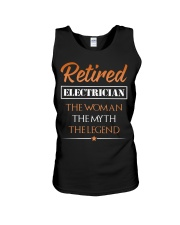 Retired Electrician The Woman Myth Legend Unisex Tank thumbnail