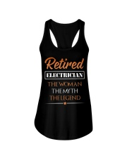 Retired Electrician The Woman Myth Legend Ladies Flowy Tank thumbnail