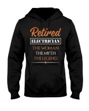 Retired Electrician The Woman Myth Legend Hooded Sweatshirt thumbnail