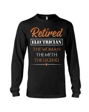 Retired Electrician The Woman Myth Legend Long Sleeve Tee thumbnail