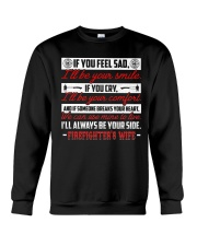 I'll Always Be Your Side Firefighter's Wife Crewneck Sweatshirt thumbnail