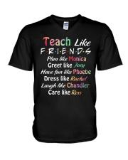 Teacher Like Friends V-Neck T-Shirt thumbnail