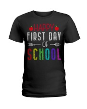 Happy First Day Of School Ladies T-Shirt thumbnail