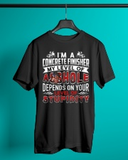 I'm A Concrete Finisher - Level Of Stupidity Classic T-Shirt lifestyle-mens-crewneck-front-3