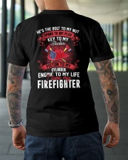 Engine To My Life I Love My Firefighter Classic T-Shirt lifestyle-mens-crewneck-back-3