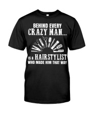 Behind Every Crazy Woman Is A Hairstylist Premium Fit Mens Tee thumbnail