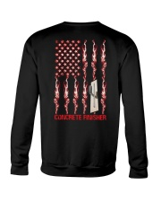 American Flag Concrete Finisher Crewneck Sweatshirt thumbnail
