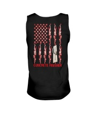 American Flag Concrete Finisher Unisex Tank thumbnail
