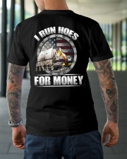 I Run Hoes For Money Classic T-Shirt lifestyle-mens-crewneck-back-3