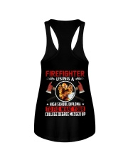 Firefighter Using A High School Diplome Ladies Flowy Tank thumbnail