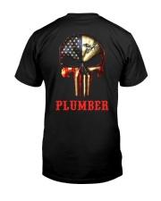 Plumber Skull Classic T-Shirt back