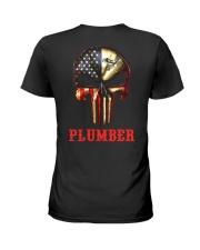 Plumber Skull Ladies T-Shirt thumbnail