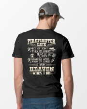 Firefighter Life A Piece Of Jerky When I'm Hungry Classic T-Shirt lifestyle-mens-crewneck-back-6